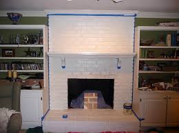 painted white brick fireplacePainting Brick Fireplace  From White to Beautiful Brownstone