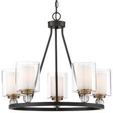 modern glass shade 5 light pendant lamp