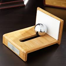 awesome business card holder for desk
