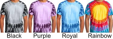 Tie Dye Color Chart Rms Tie Dye T Shirt Color Chart
