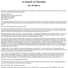 a sound of thunder pearltrees
