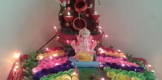 ganpati decoration ideas archives pooja room and rangoli designs