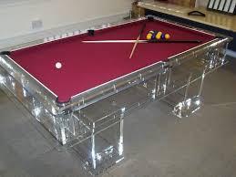 acrilic furniture. unique designer transparent acrylic perspex pool table acrilic furniture