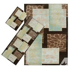 artistic weavers hazel brown nylon 3 piece area rug set better homes and gardens iron fleur