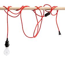 red pendant lighting. Red Light Cord With Socket Pendant Lighting