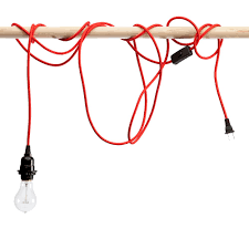red light cord with socket