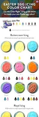 Egg Dye Color Chart Food Coloring Chart For Eggs Highfiveholidays Com