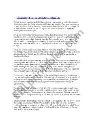 city life essay essay about village life vs city life benefits of city life