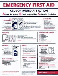 Laboratory First Aid Chart First Aid And Emergency Action The O Guide