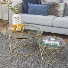 eloise geometric glass and gold nesting