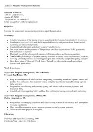 resume objectives for managers sample resume for property manager