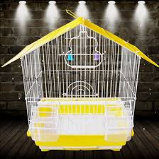 golden metal wire bird cage for