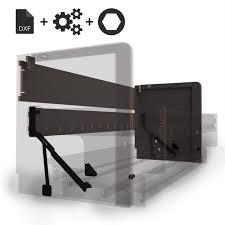 hardware kit for single wall bed desk
