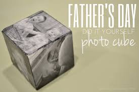 father s day diy photo cube
