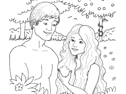 Small Picture Collection of Solutions Adam And Eve Coloring Pages With Letter