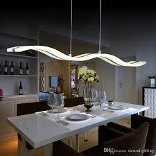 modern led pendant lamp light kitchen acrylic suspension hanging ceiling lamp design dining table lighting for home dinning room light 38w