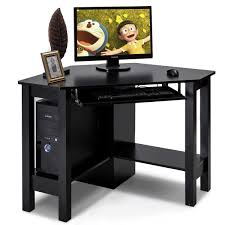 office writing table. Costway Wooden Corner Desk With Drawer Computer PC Table Study Office Room Black 0 Writing L