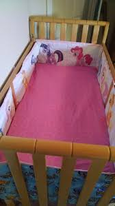 the inside of the per and fitted crib sheet i made