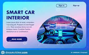 Car Interior Design Software Free Download Smart Car Interior Future Vector Design Banner Stock