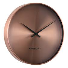 glossy vintage copper wall clock