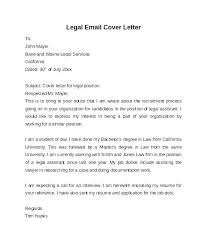 Cover Letter For A Law Firm Sample Legal Cover Letters Law Cover