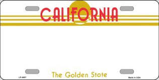 California Novelty Plate Blank State Background License Wholesale Metal