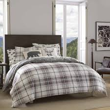 ed bauer alder plaid duvet cover set free today with regard to covers king remodel