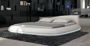 modern leather bed modern leather bed w led lights modern leather bedroom