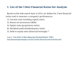 financial analysis example examples of the best financial ratios for analysis best financial ra