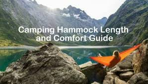 Camping Hammock Length And Comfort How To Choose Section
