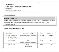 Objective In Resume For Computer Science Resume Objectives 100 Free Sample Example Format Download 7