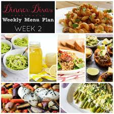 weekly meal planning for two dinner divas weekly meal plan week two 5 mains 2 extras