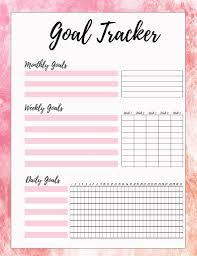 Daily Goal Tracker Download Malena Haas Goal Tracker Printable Free Printable Goal