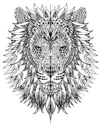 Hard Animal Coloring Pages For Adults Best Kids Page Lion