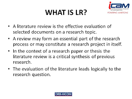 What is a Research Paper Literature Review
