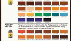 fiebing s paint dye color charts avec fiebing leather dye color