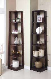Corner Tower Shelf Available In Walnut And Black Huntington Beach