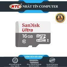 Thẻ nhớ MicroSDHC SanDisk Ultra 533X 16GB 80MBs - new Version [Trắng bạc],  giá chỉ 89,000đ! Mua ngay kẻo hết!