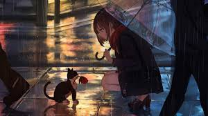 Popular Anime Rain Wallpaper Desktop ...