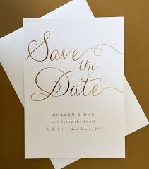 Save The Dates Wedding Gold Foil Wedding Save The Date Modern Elegant Classic And