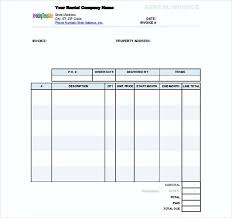 44+ Rent Invoice Template Microsoft Word Images