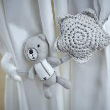 silver cross nursery curtain tie backs