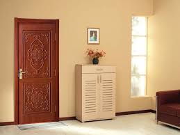 China Factory Kerala Door Designs India House Gate Solid Nature Teak