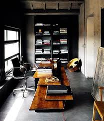 Office man cave ideas Ultimate Black Walls Contrasted With Good Lighting In Your Mens Office With Exposed Cement Ceilings And Floors Diy Projects Man Cave Ideas Diy Projects Craft Ideas How Tos For Home Decor