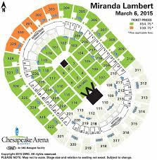 Chesapeake Seating Chart Thunder Miranda Lambert Chesapeake Energy Arena