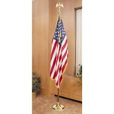 Colonial Nyl Glo U S Flag With Fringe 2 Ft X 3 Ft Through 5 Ft X