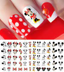 Buy Mickey Mouse & Minnie Mouse Waterslide Nail Art Decals - Salon Quality  Online in Taiwan. B07Q3WMHHT