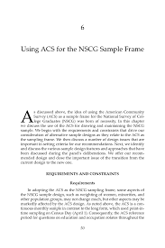 6 Using Acs For The Nscg Sample Frame Using The American Community