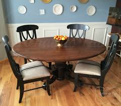 Table And Chairs In Java Antique Walnut Gel Stain And Lamp Black