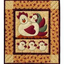 Chicken Coop Wall Hanging Applique Quilt Kit - Beginner Quilt Kits ... & Easy Quilt Kit for Beginners - Wall Hanging - Chicken Coop Adamdwight.com
